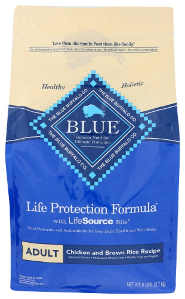 Blue Buffalo: Life Protection Formula Adult Dog Food Chicken And Brown Rice Recipe, 6 Lb
