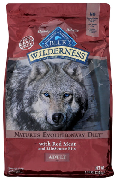 Blue Buffalo: Wilderness Adult Dog Food Red Meat Recipe, 4.50 Lb