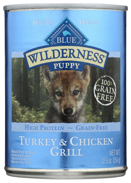 Blue Buffalo: Wilderness Puppy Food Turkey & Chicken Grill, 12.50 Oz