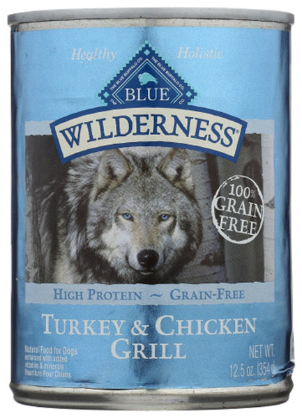 Blue Buffalo: Wilderness Adult Dog Food Turkey And Chicken Grill, 12.50 Oz