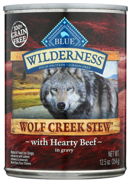 Blue Buffalo: Wilderness Wolf Creek Stew Adult Dog Food Hearty Beef Stew, 12.50 Oz