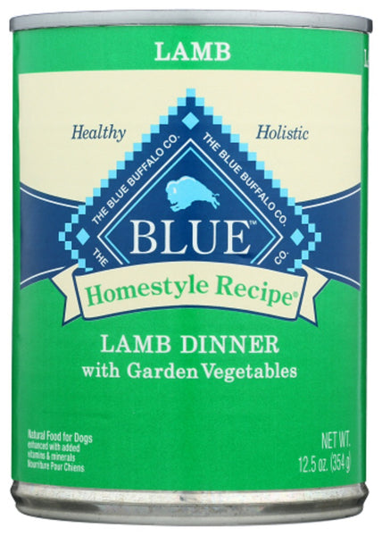 Blue Buffalo: Homestyle Recipe Adult Dog Food Lamb Dinner With Garden Vegetables, 12.50 Oz