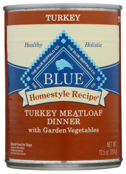 Blue Buffalo: Homestyle Recipe Adult Dog Food Turkey Meatloaf Dinner With Garden Vegetables, 12.50 Oz