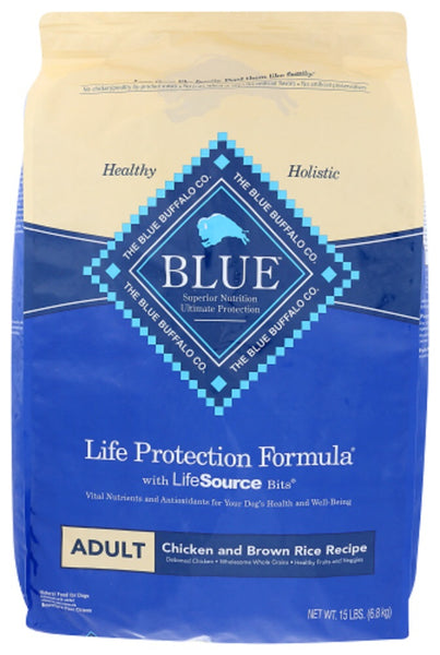 Blue Buffalo: Life Protection Formula Adult Dog Food Chicken And Brown Rice Recipe, 15 Lb
