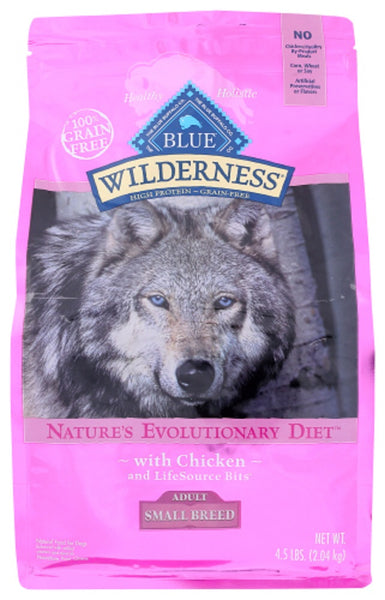 Blue Buffalo: Wilderness Adult Small Breed Dog Food Chicken Recipe, 4.50 Lb