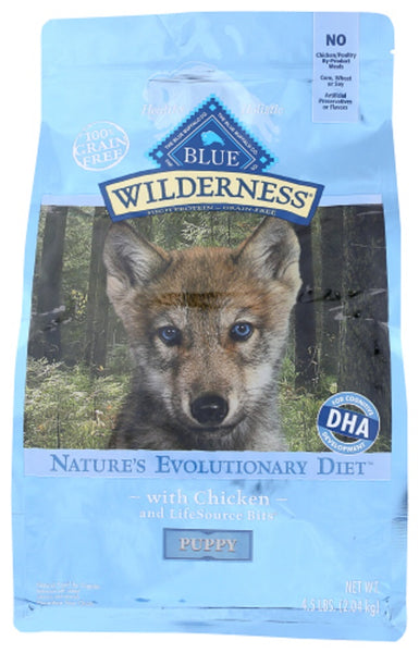 Blue Buffalo: Wilderness Puppy Food Chicken Recipe, 4.50 Lb