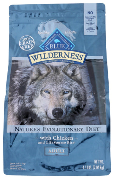 Blue Buffalo: Wilderness Adult Dog Food Chicken Recipe, 4.50 Lb