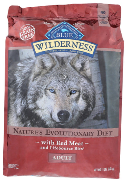 Blue Buffalo: Wilderness Adult Dog Food Red Meat Recipe, 11 Lb