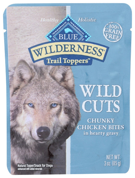 Blue Buffalo: Wilderness Wild Cuts Trail Toppers Adult Dog Food Chunky Chicken Bites In Hearty Gravy, 3 Oz