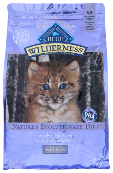 Blue Buffalo: Wilderness Kittens Chicken Recipe, 4 Lb