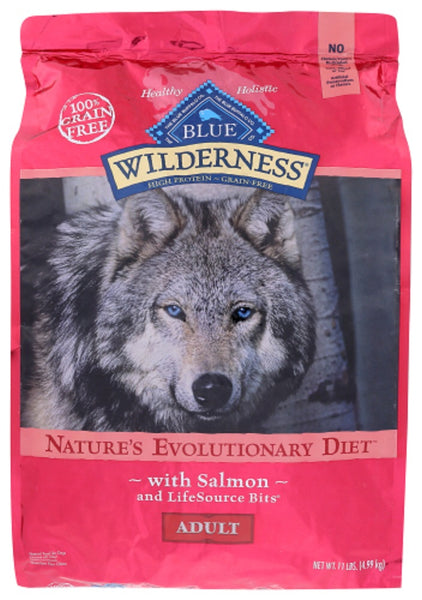 Blue Buffalo: Wilderness Adult Dog Food Salmon Recipe, 11 Lb