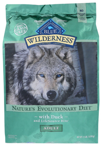 Blue Buffalo: Wilderness Adult Dog Food Duck Recipe, 11 Lb