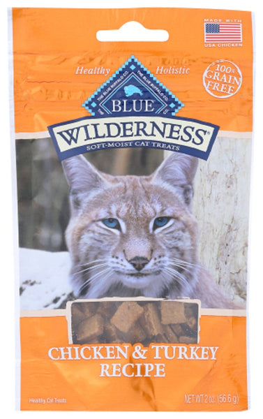 Blue Buffalo: Wilderness Chicken And Turkey Recipe Cat Treats, 2 Oz