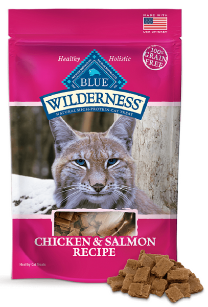 Blue Buffalo: Wilderness Chicken And Salmon Cat Treats, 2 Oz