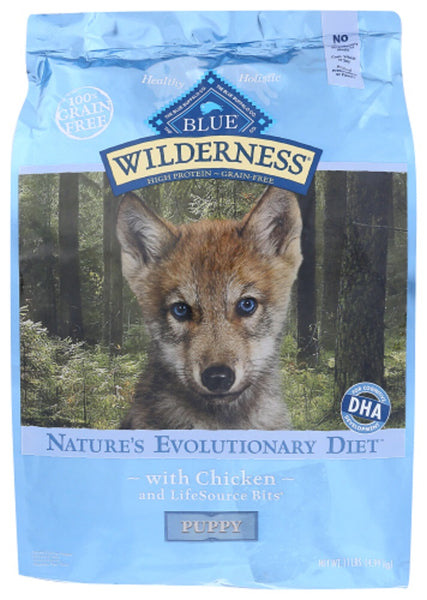 Blue Buffalo: Wilderness Puppy Chicken Recipe, 11 Lb