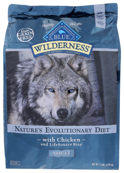 Blue Buffalo: Wilderness Adult Dog Food Chicken Recipe, 11 Lb