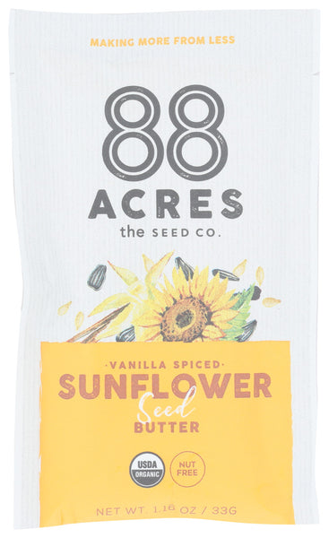88 Acres: Vanilla Spiced Sunflower Seed Butter, 1.16 Oz