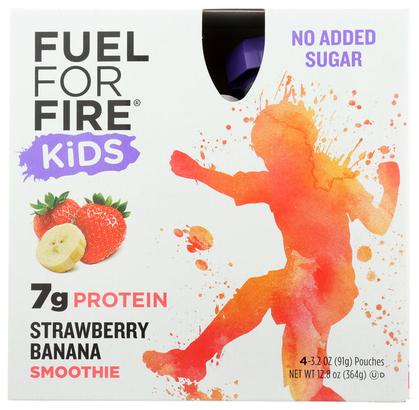 Fuel For Fire: Kids Strawberry Banana Smoothie 4 Pack, 12.80 Oz