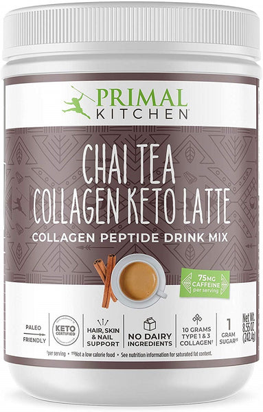 Primal Kitchen: Chai‌ ‌tea‌ ‌collagen‌ ‌keto‌ ‌latte‌ Drink Mix, 8.55 Oz