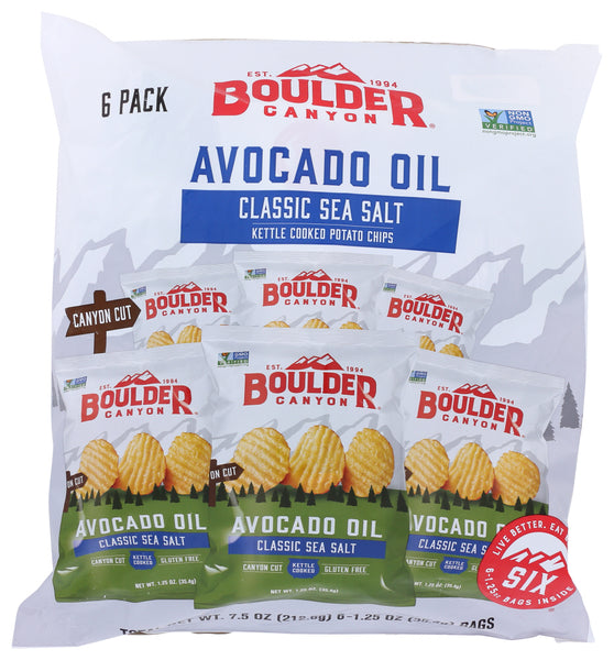 Boulder Canyon: Avocado Oil Classic Sea Salt Chips, 7.50 Oz
