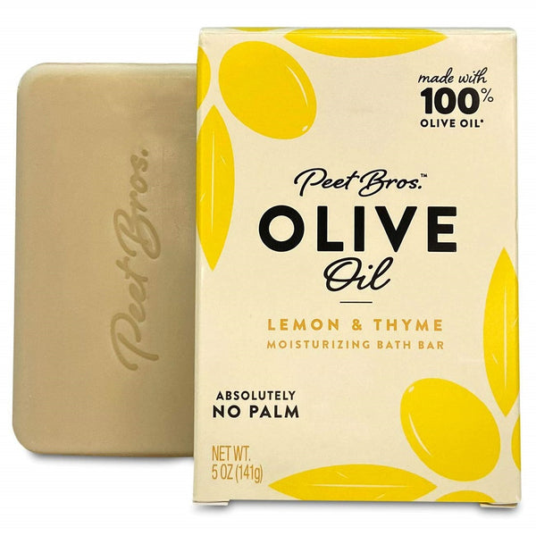 Peet Bros: Olive Oil Lemon & Thyme Soap, 5 Oz
