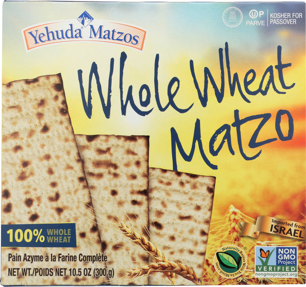 Yehuda Matzos: Whole Wheat Matzo, 10.50 Oz