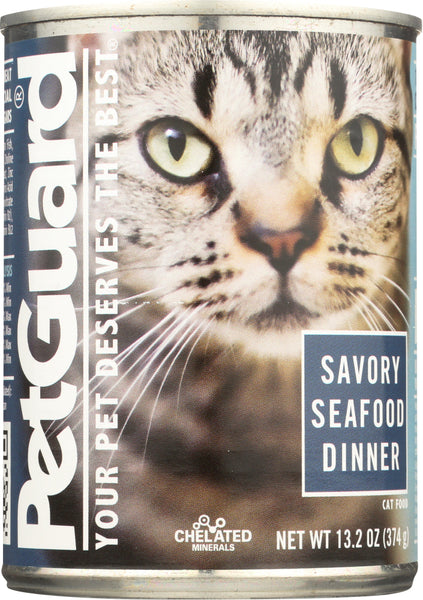 Petguard: Savory Seafood Dinner Canned Cat Food, 13.2 Oz