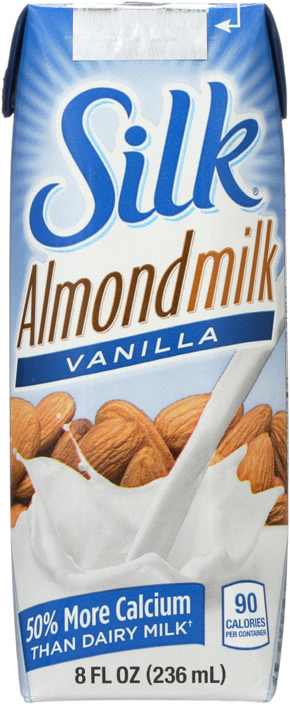 Silk: Silk Almond Milk Pure Vanilla, 8 Oz