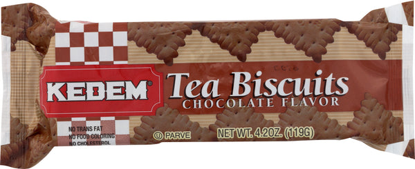 Kedem: Tea Biscuits Chocolate, 4.2 Oz