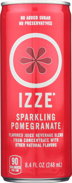Izze Beverage: Sparkling Juice Pomegranate, 8.4 Fl Oz