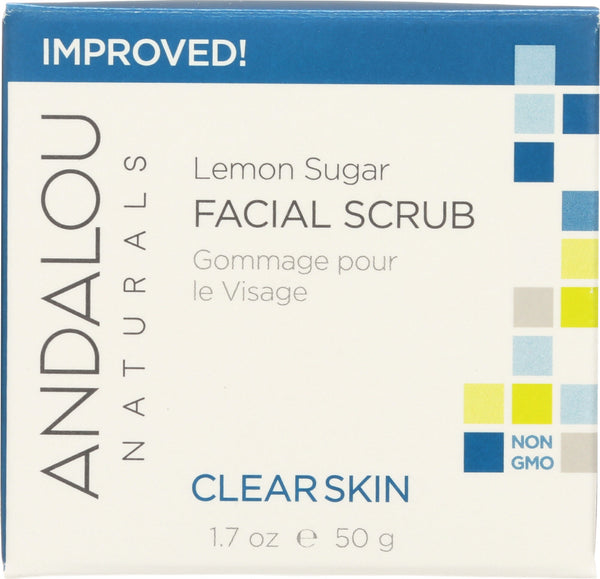 Andalou Naturals: Clarifying Facial Scrub Lemon Sugar, 1.7 Oz