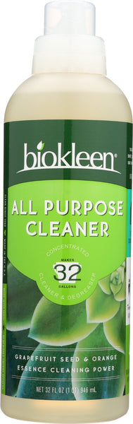 Bio Kleen: Concentrated All Purpose Cleaner And Degreaser, 32 Oz
