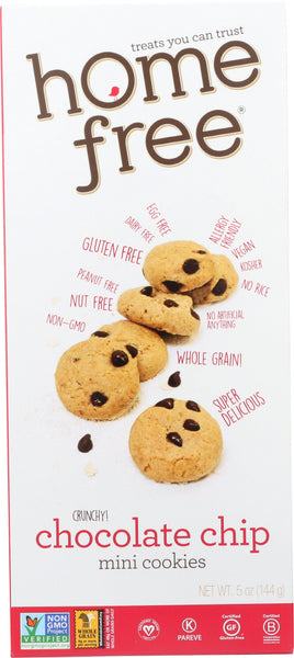 Home Free: Gluten Free Mini Chocolate Chip Cookies, 5 Oz