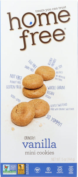Home Free: Gluten Free Mini Vanilla Cookies, 5 Oz