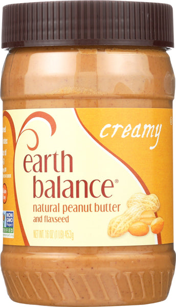Earth Balance: Natural Peanut Butter & Flaxseed Creamy, 16 Oz