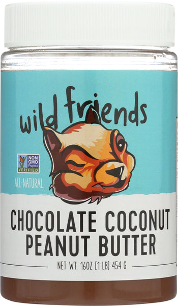 Wild Friends: All Natural Chocolate Coconut Peanut Butter, 16 Oz