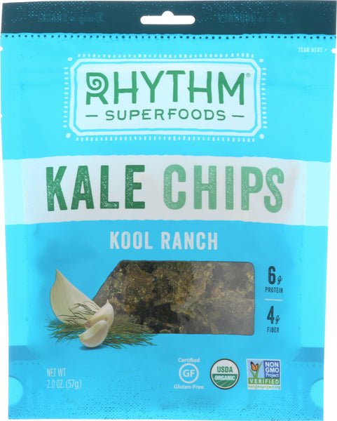 Rhythm Superfoods: Kale Chips Kool Ranch, 2 Oz