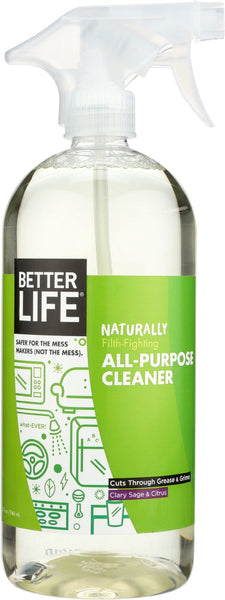 Better Life: What-ever! Natural All-purpose Cleaner Clary Sage & Citrus, 32 Oz