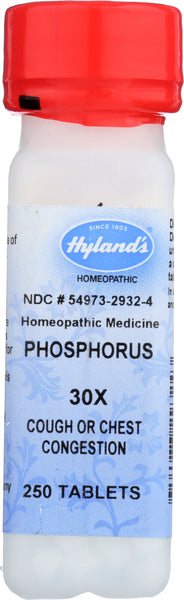 Hyland: Phosphorus 30x, 250 Tablets