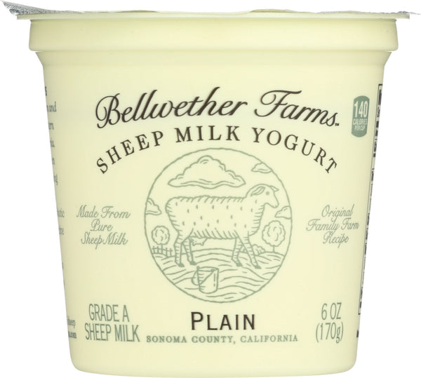 Bellwether Farms: Sheep Milk Yogurt Plain, 6 Oz