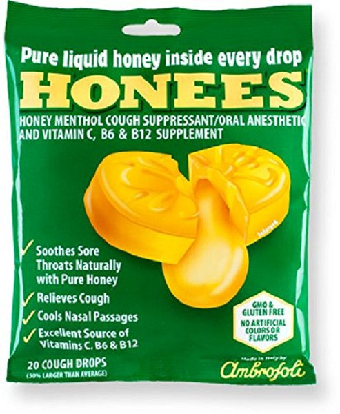 Ambrosoli: Honees Cough Drops Original Bag, 20 Pc