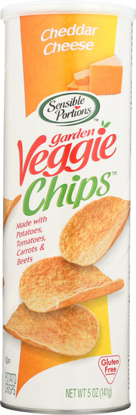 Sensible Portions: Cheddar Cheese Garden Veggie Chips, 5 Oz