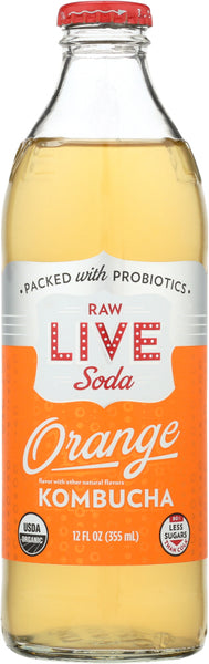 Live Soda: Orange Kombucha, 12 Oz