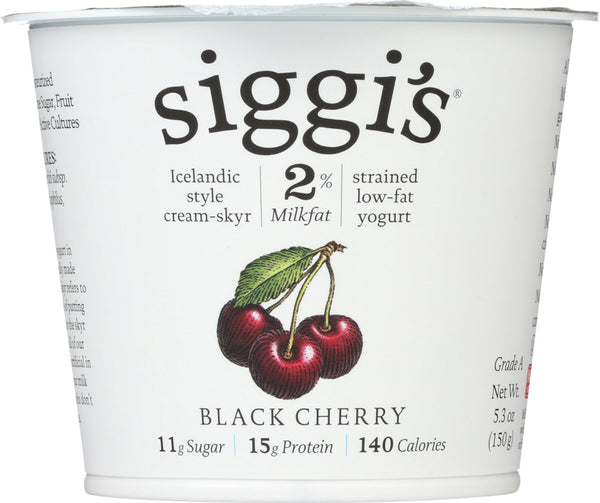 Siggis: 2% Milkfat Strained Low-fat Black Cherry Yogurt, 5.3 Oz