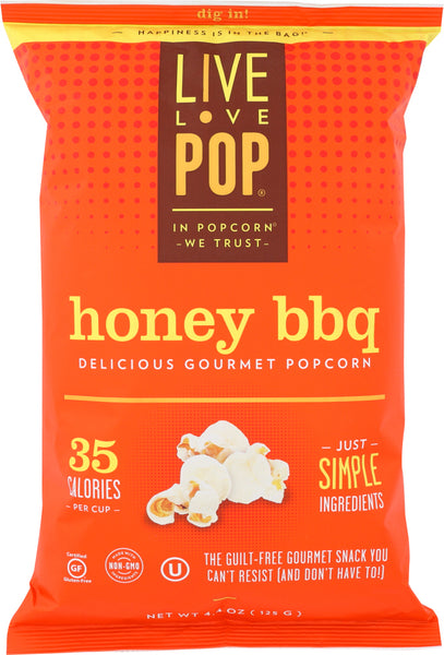 Live Love Pop: Honey Bbq Popcorn, 4.4 Oz