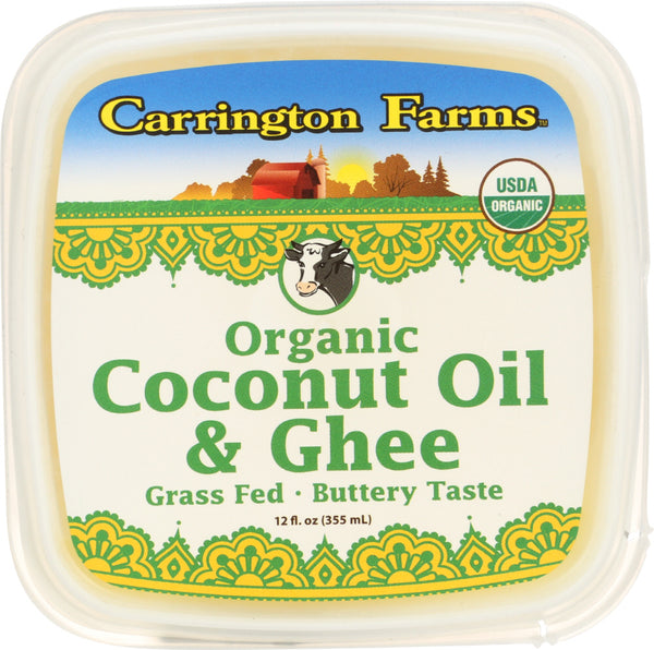 Carrington Farms: Coconut Oil And Ghee Organic, 12 Oz