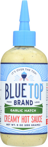 Blue Top Brand: Creamy Hot Sauce Garlic Hatch, 9 Oz