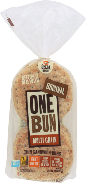 Ozery Bakery: One Bun Multi Grain Thin Sandwich Buns, 21 Oz