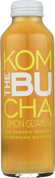 The Bu Kombucha: Tea Kombucha Lemon Ginseng, 14 Oz