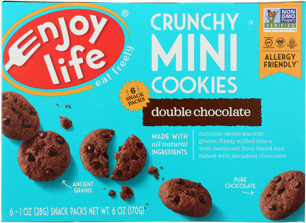 Enjoy Life: Crunchy Minis Double Chocolate, 6 Oz